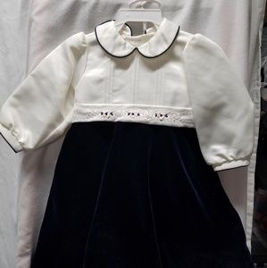 Will Beth 12 month velvet/satin dress